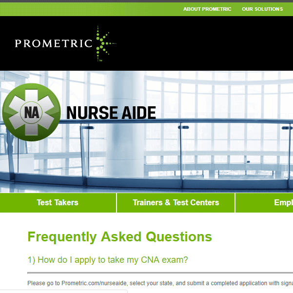 CNA Prometric FAQ square